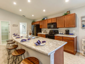 Parker model home kitchen countertops