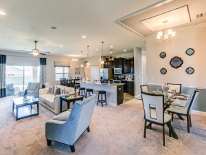 Spacious great room in the Kendall townhome in Sarasota