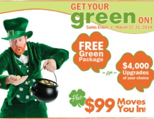 Highland Homes Get Your Green On