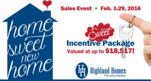 Home Buyer Incentive - Enjoy Sweet Savings on Your New Florida Home from Highland Homes