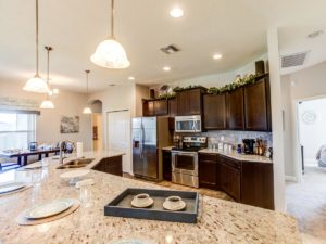 Gourmet kitchen in the Kendall townhome in Sarasota