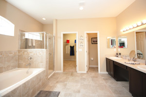 Bathroom space is one of the biggest advantages of a new home vs an older home
