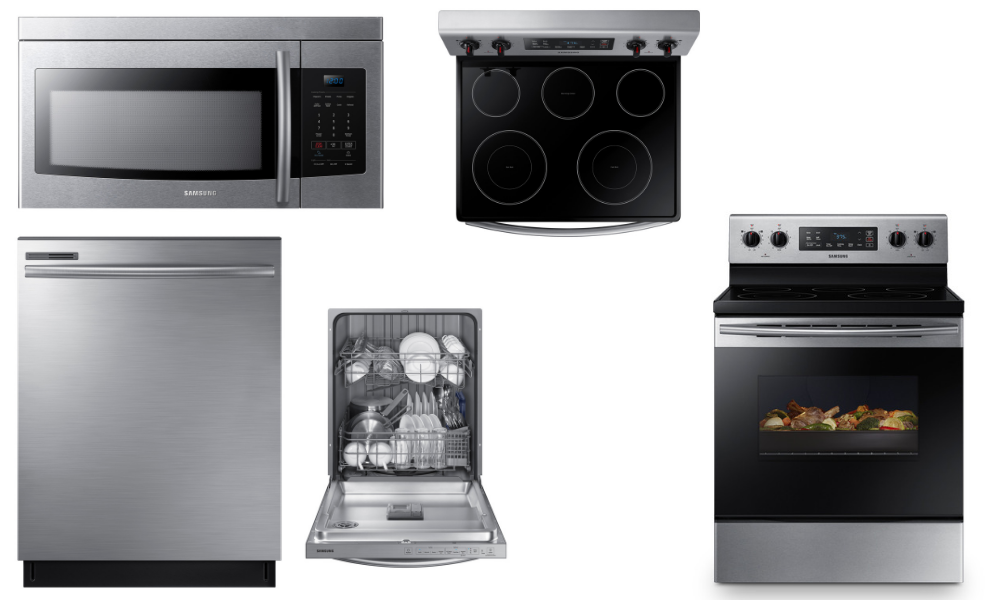 Included Samsung appliances