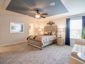 Spacious master suite in the Kendall townhome in Sarasota