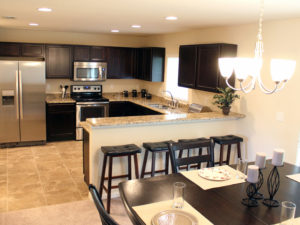 Riverview townhomes include luxurious kitchens