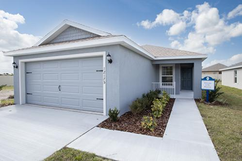 Ridgewood community Begonia Model Home Exterior - New Model home in Riverview, FL>