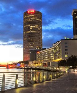 Tampa Riverwalk, near Museums and the Straz Center