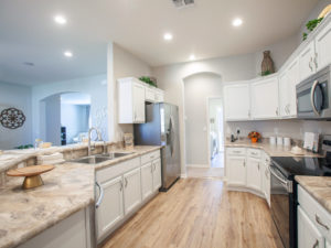 Westin model home kitchen