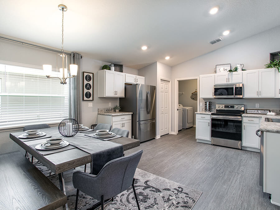 Kitchen in Highland Homes' Aniston model home