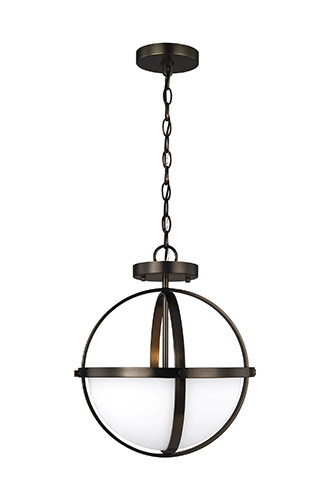 Alturas oil rubbed bronze foyer fixture, available at the Highland Homes design center