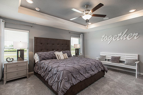 Lighting tips for your home - Use layered lighting in bedrooms.