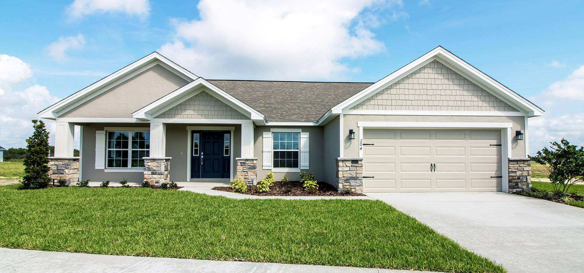 New home exterior in East Polk County