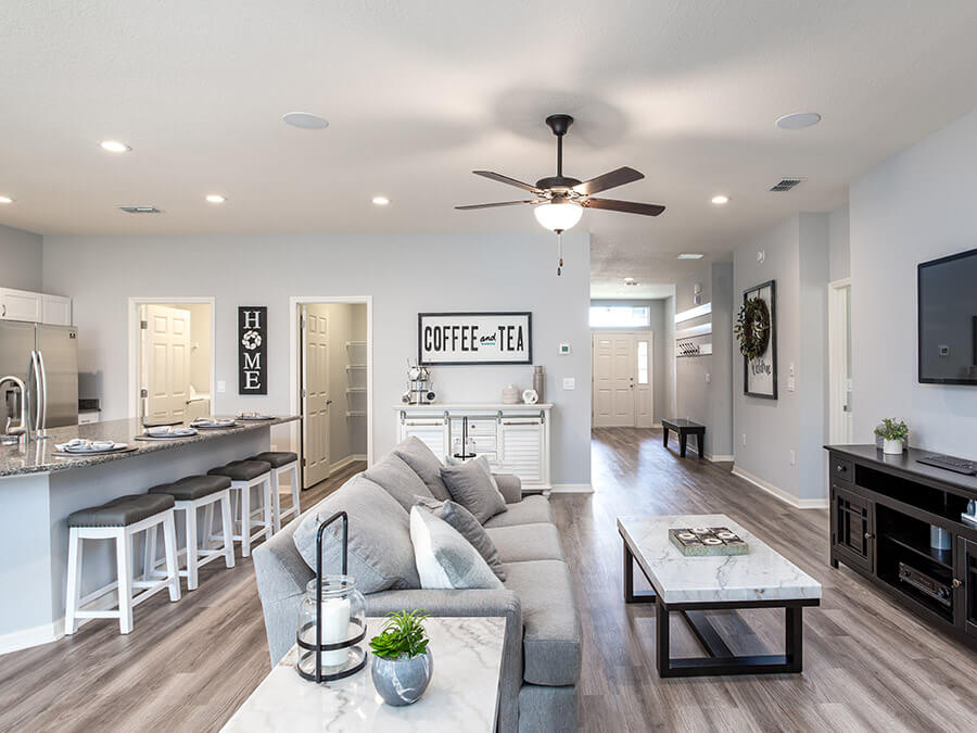 Design options in a model home by Highland Homes
