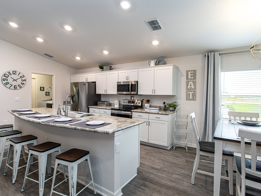 Kitchen in a new home in Florida