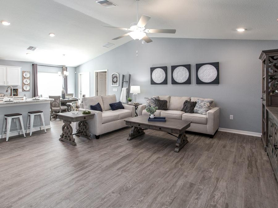 The Begonia model home in Riverview has a spacious and versatile living area