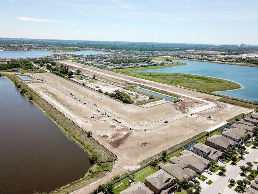 Ridgewood aerial view - New homes in Riverview, FL