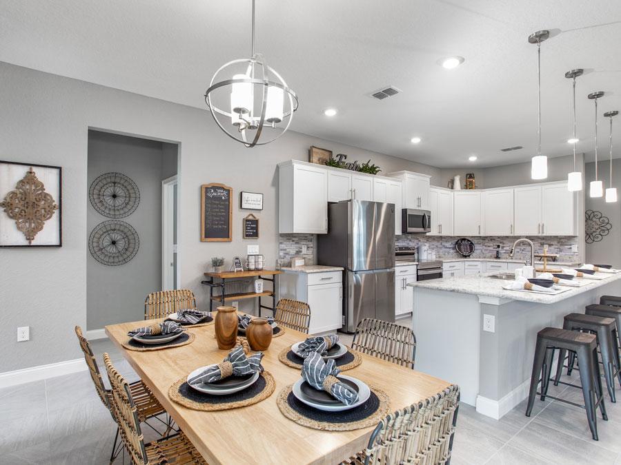 Alturas lighting fixtures in the new model home in Lakeland