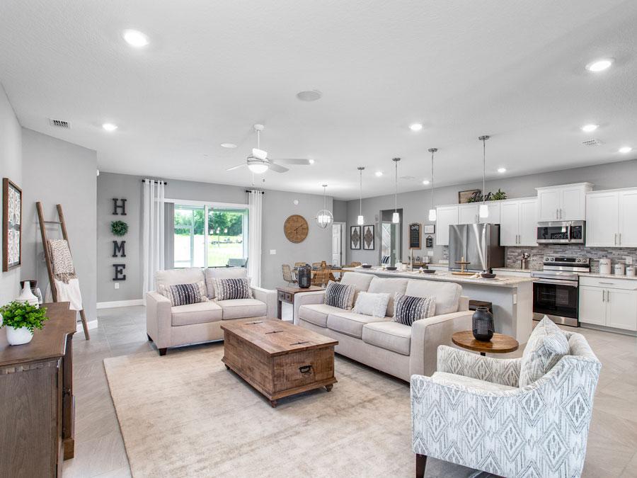Waylyn model home gathering room