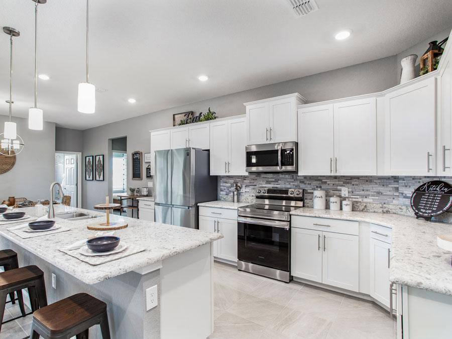 Kitchen in the new Treymont model home in Lakeland