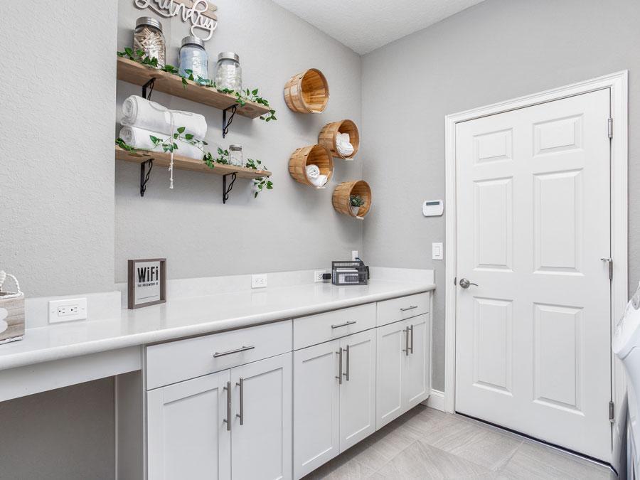 Waylyn model laundry room and drop zone