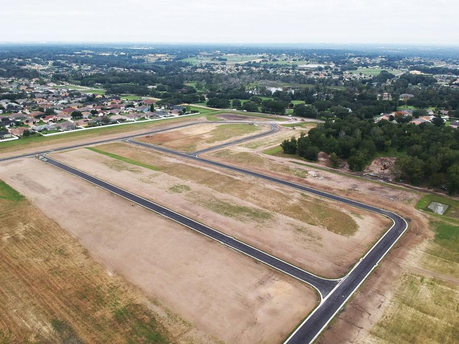 Aerial view of Treymont, a gated community of new homes in Lakeland, FL - Coming soon!