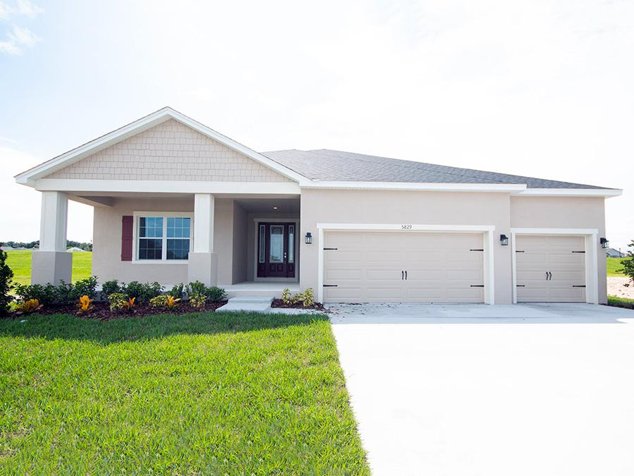 Large front porch on the Wynter home plan at Juliana Village, Auburndale